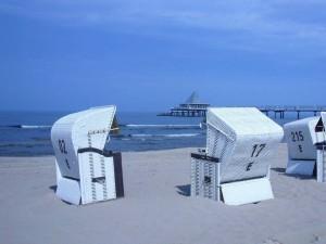 Blaue Stunde am Strand